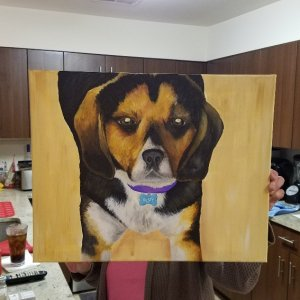 Our Oil canvas of Rusty